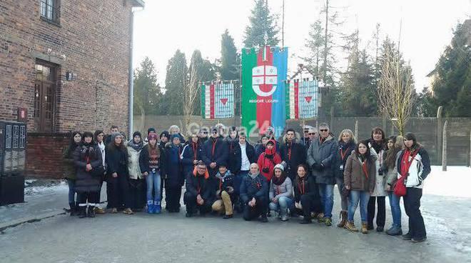 La delegazione ligure ad Auschwitz