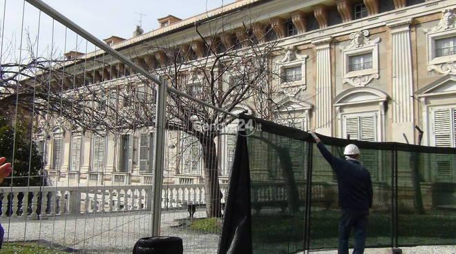 Giardino di Tursi, via al taglio dei ciliegi