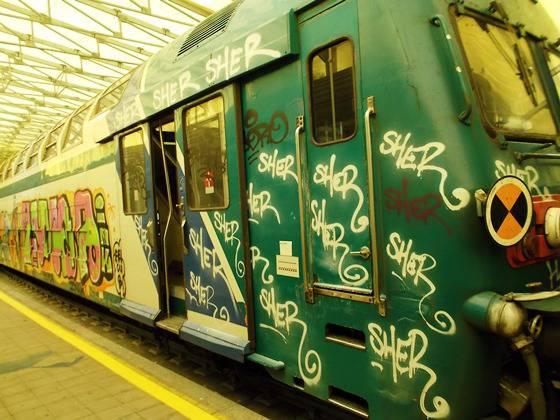 graffitari treni