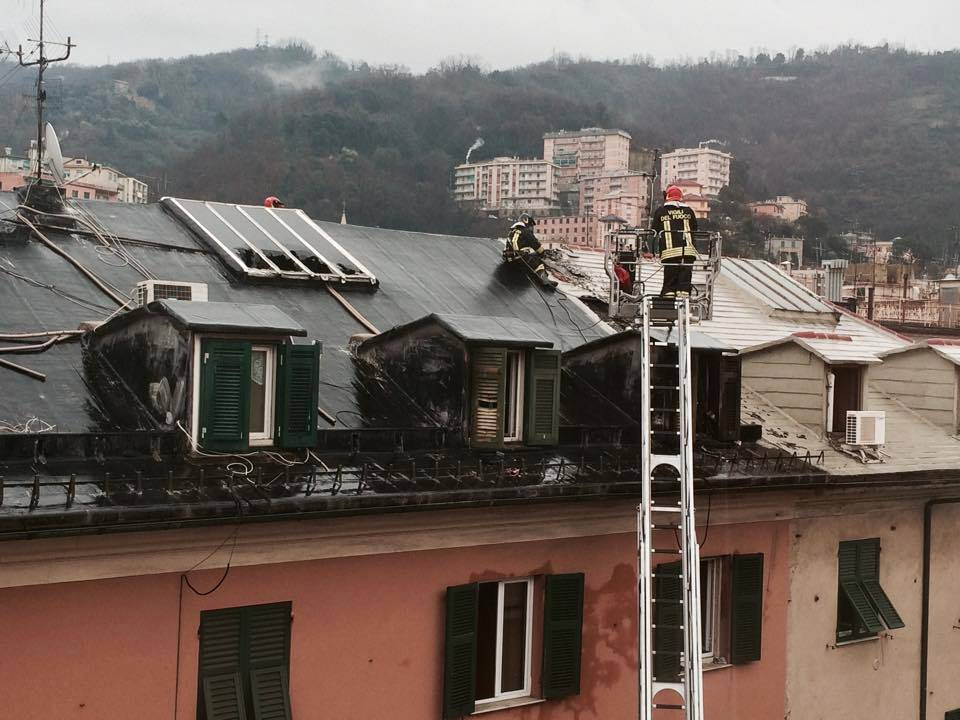 incendio in via Jori