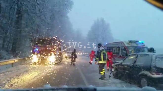 incidente rocchetta cairo neve