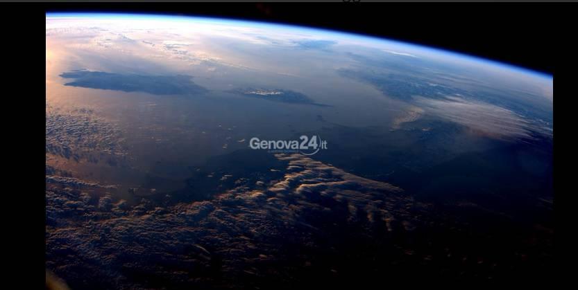 Liguria vista dallo spazio