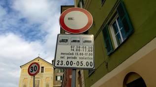 Manifestazione contro i tir a Borzoli