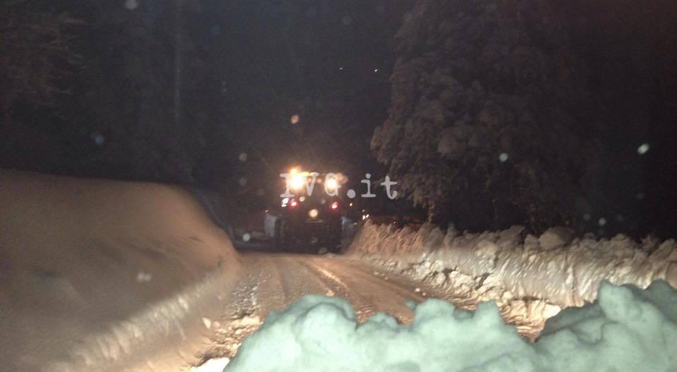 neve spazzaneve notte