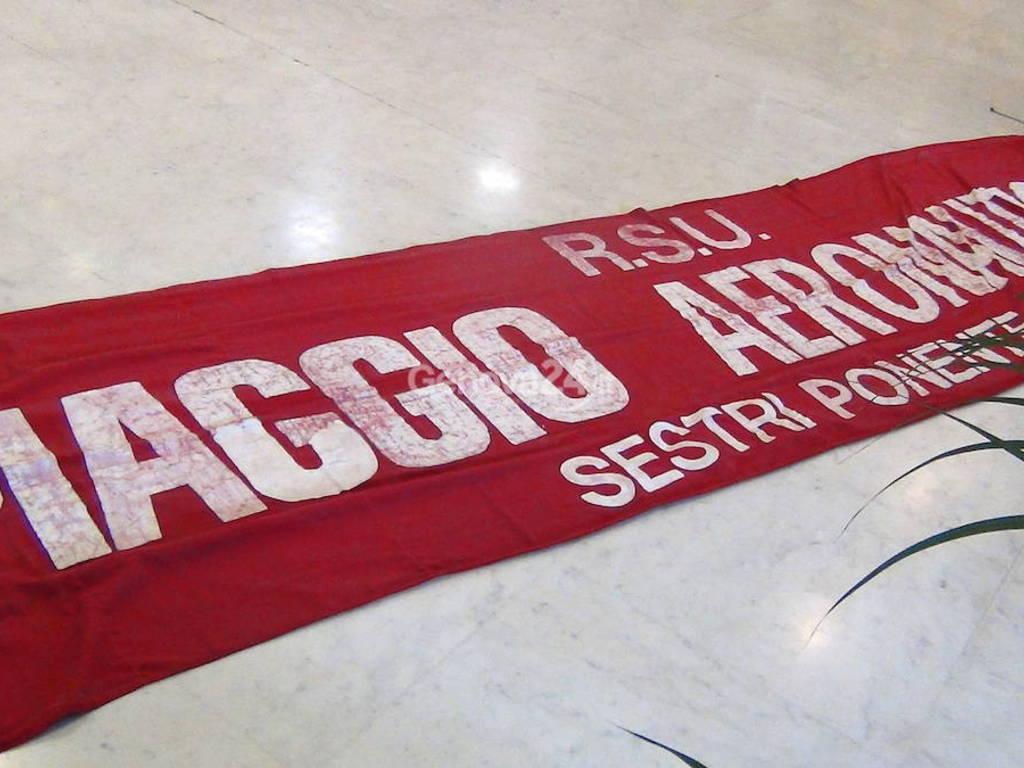 Piaggio aero e lavoratori Mario Valle: doppia protesta in Regione