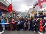 Taglio del nastro per la nuova strada a mare di Cornigliano