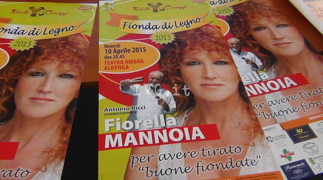 Albenga, a Fiorella Mannoia la Fionda di Legno 2015
