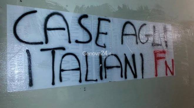 """Blitz di Forza Nuova alle """"Lavatrici"""" di Pra'"""