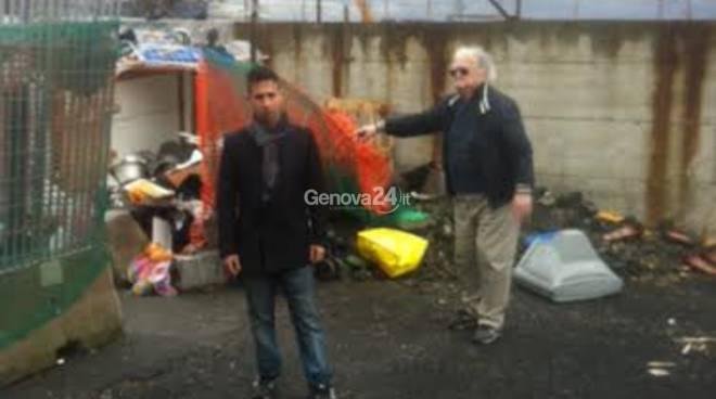 Flash mob della Lega al campo rom
