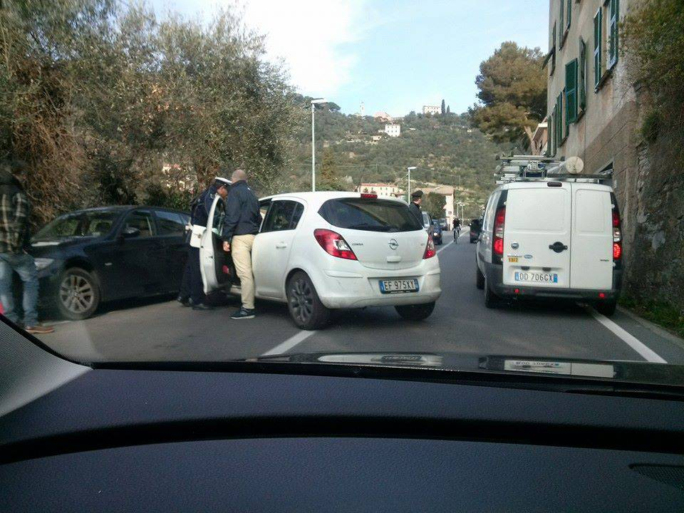 Incidente sulla via Aurelia a Zoagli
