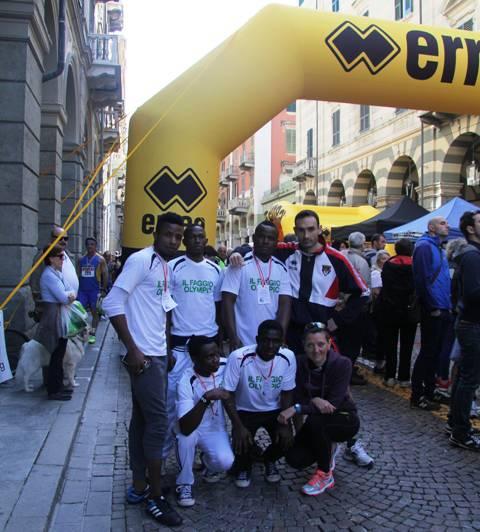 richiedenti asilo alla half marathon
