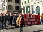 sciopero fincantieri sestri ponente