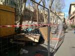 sestri ponente piazza tazzoli cantiere