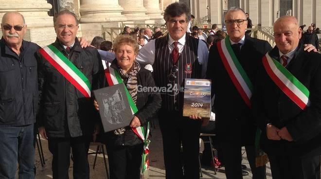 Sindaci del Tigullio a Roma per l'udienza con il Papa