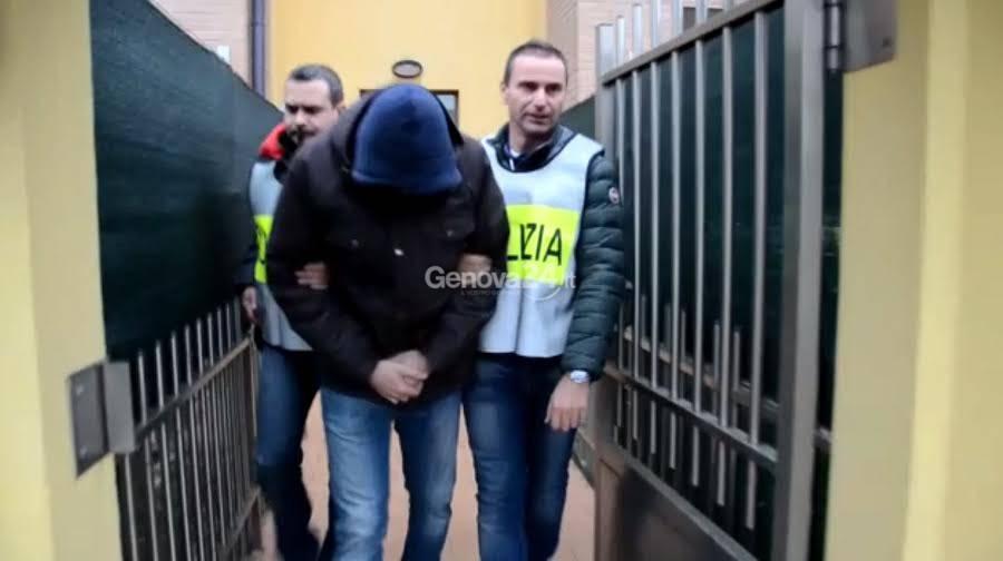 Uno degli arrestati nell'ambito dell'operazione Met Art