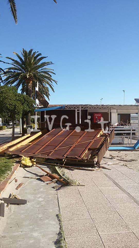 Vento forte danni in Riviera