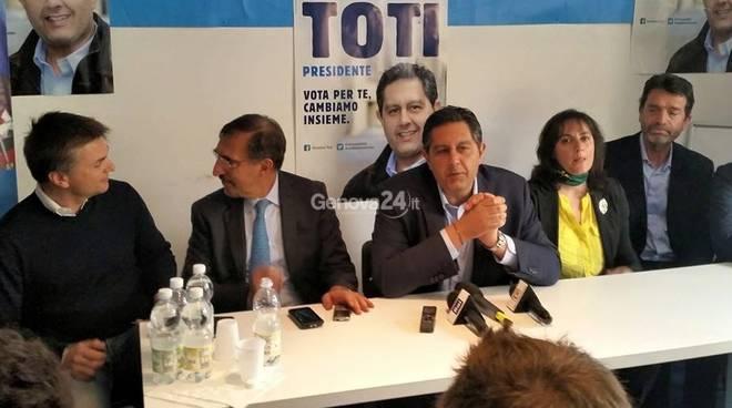 Conferenza stampa del centrodestra per le regionali