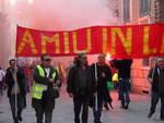 corteo lavoratori amiu 20 aprile 2015