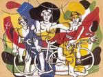 Fernand Lager Quattro Ciclisti