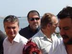 Edoardo Rixi con Matteo Salvini a Pegli
