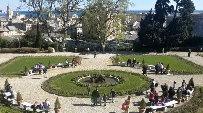 Il giardino all italiana di villa duchessa di galliera - Giardino all italiana ...