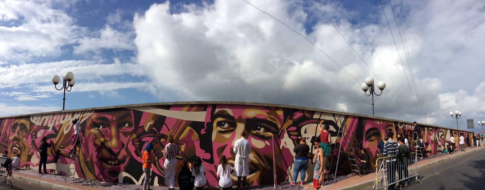 murales giro d'italia albenga