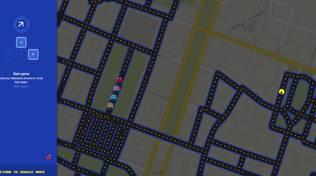 Pac-Man nelle vie di Genova