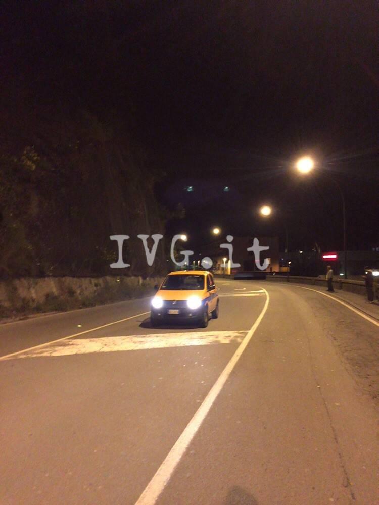 Pericolo frana sulla via Aurelia, strada chiusa a Savona
