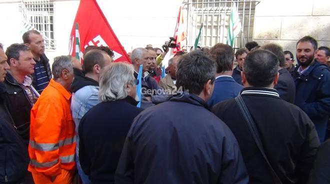 Protesta dei lavoratori Pamoter