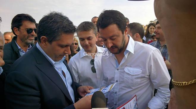 Salvini, Rixi e Toti a Rapallo