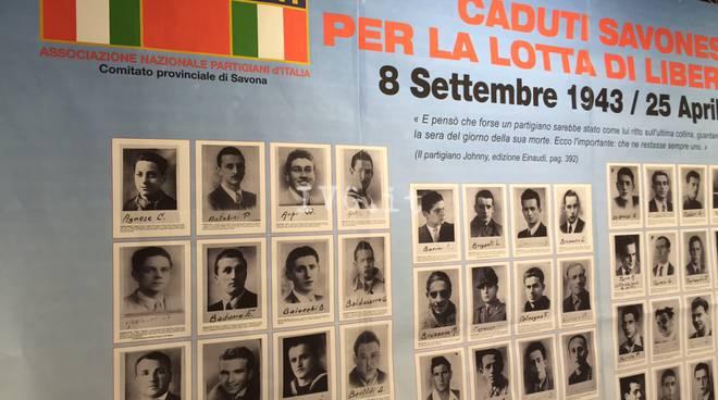 Savona, all'Ipercoop un'installazione sui caduti e sui luoghi della Resistenza