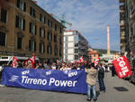 Vado, il corteo dei lavoratori di Tirreno Power