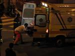 ambulanza vvff notte