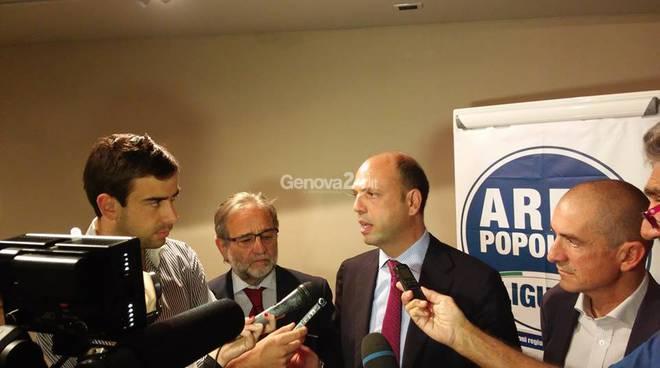 Angelino Alfano e Gino Garibaldi