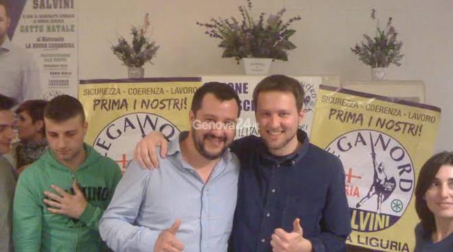 Fabio Bozzo e Matteo Salvini