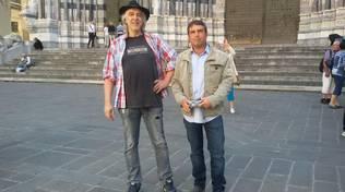 Franco Senarega con il sindaco di Savignone