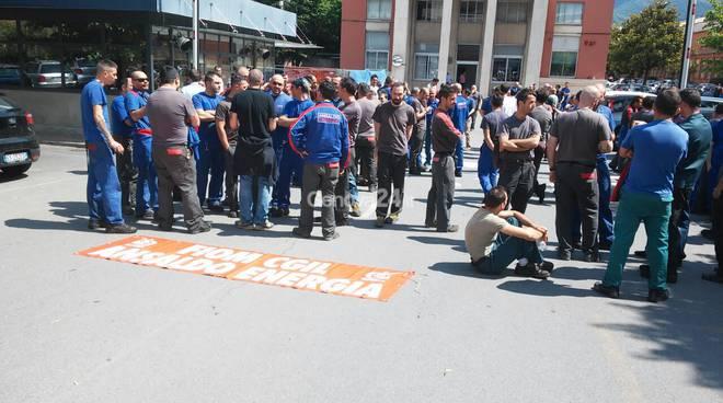 Sciopero dei lavoratori di Ansaldo Energia