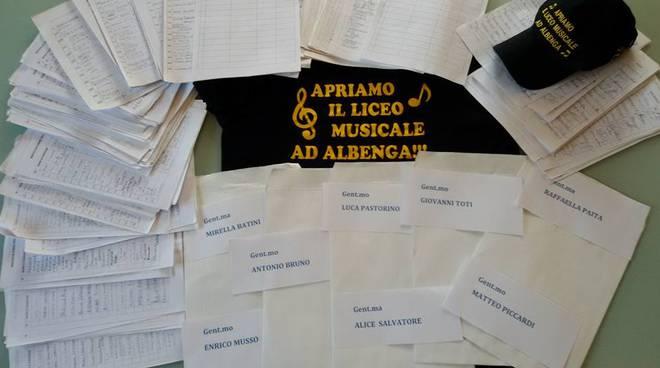 liceo musicale albenga raccolta firme tony costa