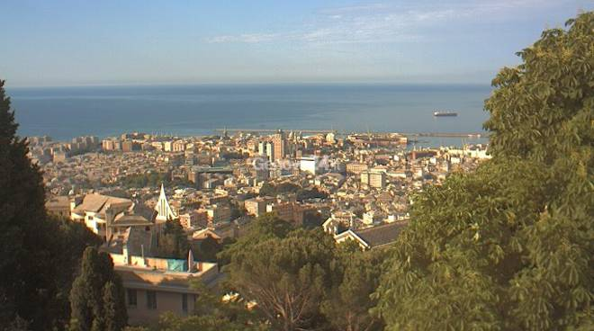 Panorama di Genova dal Righi