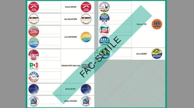 regionali 2015 facsimile scheda