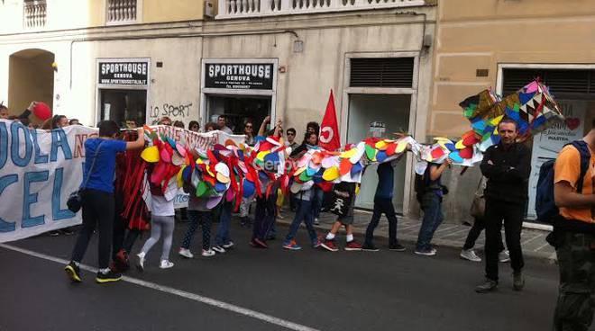 Sciopero della scuola a Genova