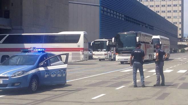 Arrivo dei profughi a Genova