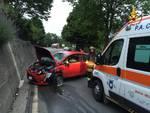 Carcare, scontro frontale tra auto alla Vispa