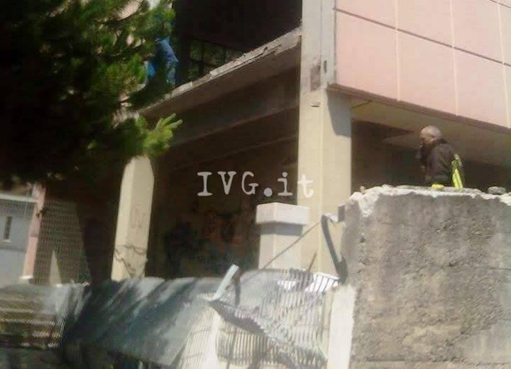 crollo muro scuola