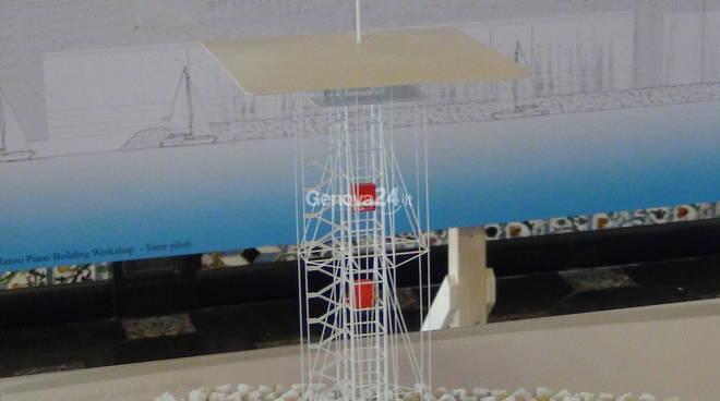 La nuova torre dei piloti del porto di Genova