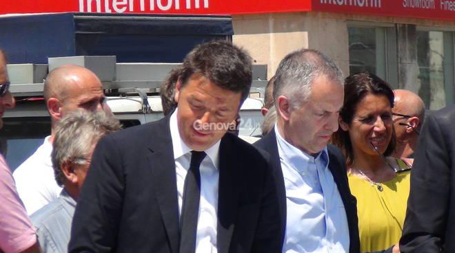 Matteo Renzi a Genova: dalla Repubblica delle Idee al sopralluogo sul bisagno