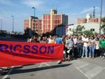 Protesta dei lavoratori di Ericsson agli Erzelli