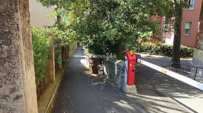 Carenza di pulizia nella zone di via del Carmelo