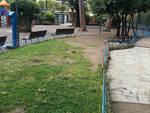 Degrado nei parchi giochi di Rapallo