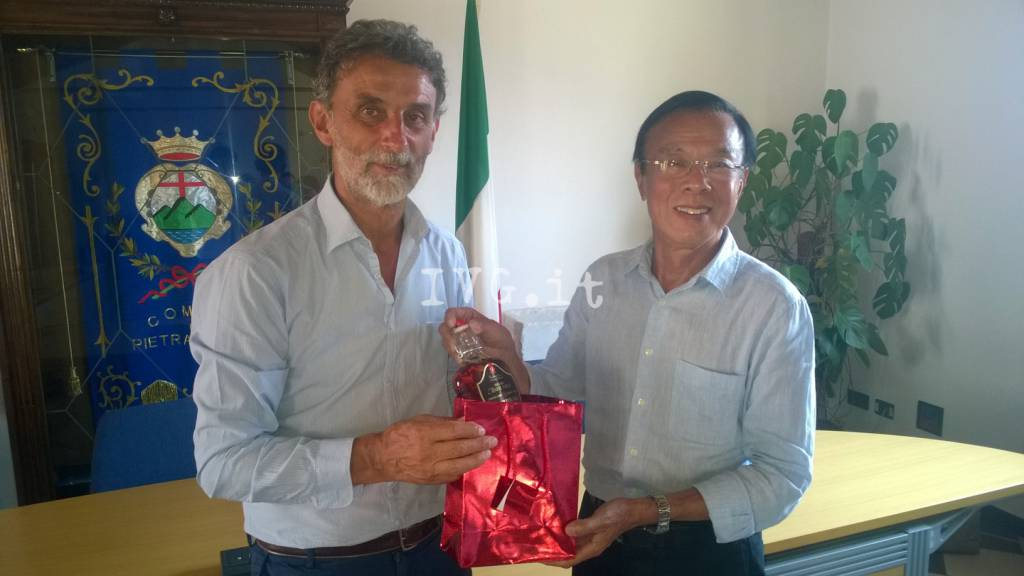 Delegazione cinese in visita a Pietra Ligure